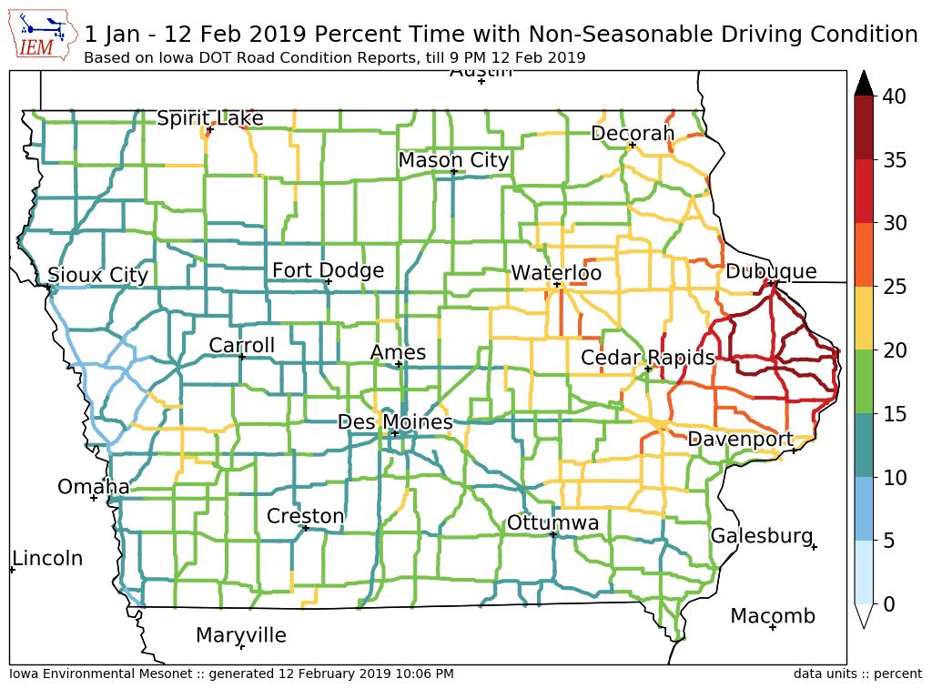 Road Conditions In Iowa Map.Iowa Environmental Mesonet