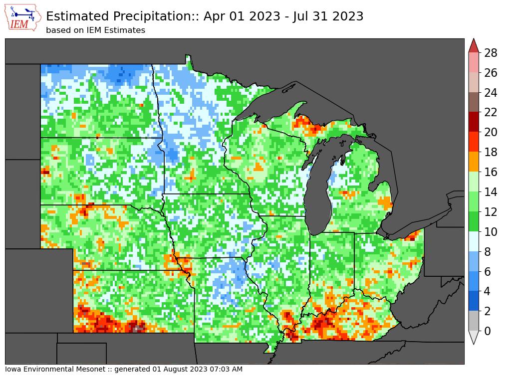4 month accumulated precipitation