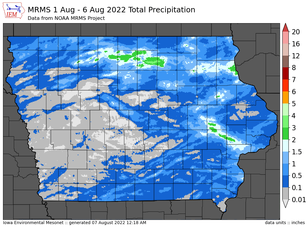 Total precipitation this month (MRMS)
