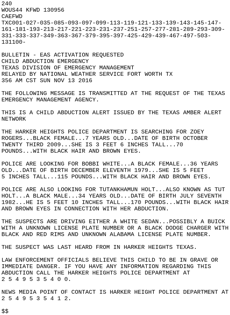 IEM :: CAE from NWS FWD