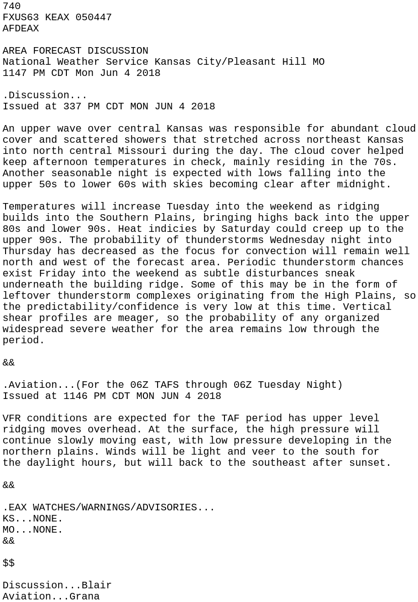 IEM :: AFD from NWS EAX
