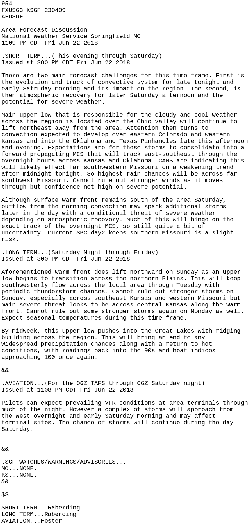 IEM :: AFD from NWS SGF