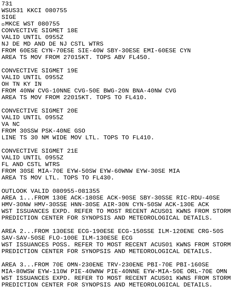 IEM :: SIG from NWS E