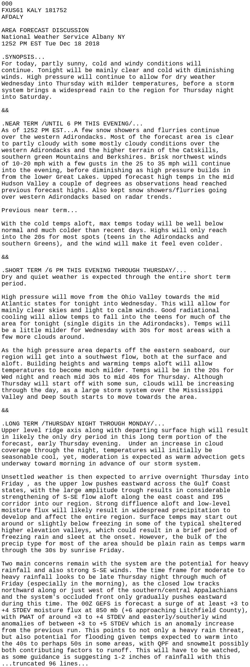 IEM :: AFD from NWS ALY